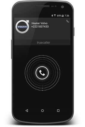 Smartphone with Call Webasto Heater Control